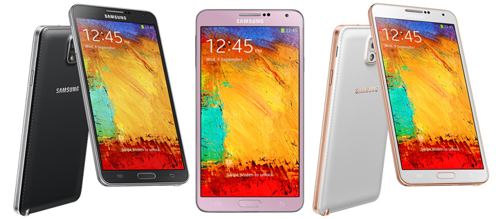 Three styles of Samsung note 3 - Fix My Touch Repairs