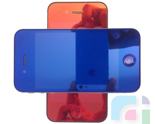 Blue & Red iPhone 4S
