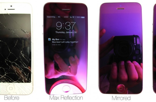 Mirrored Purple iPhone5