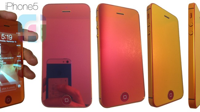 Mirrored Red iPhone 5