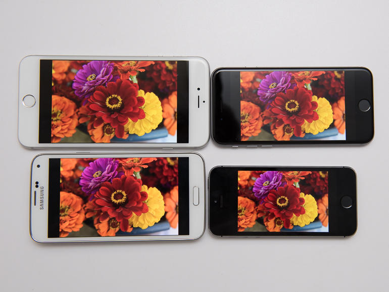 Screens test: iPhone 6 vs. iPhone 6 Plus vs. Samsung Galaxy S5