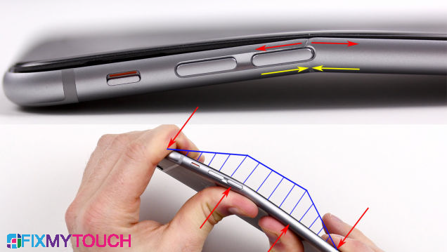 Apple is looking to replace the bent iPhones
