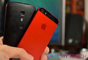 Moto  G 300.00ish versus iPhone 5s 600.00ish