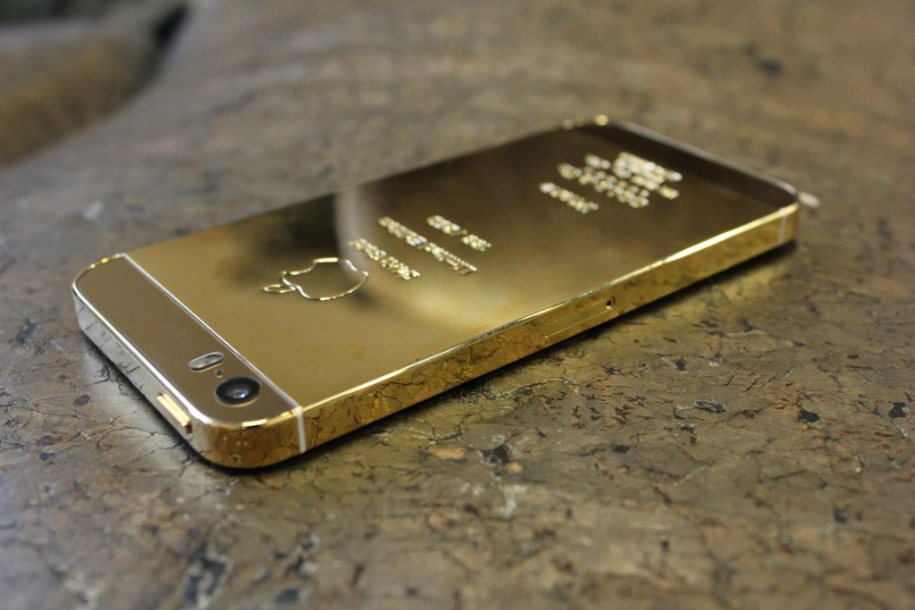 Gold Plated iPhone rear housing - Fix My Touch Kelowna