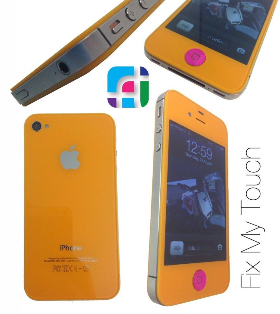 iPhone repair and modification - Fix My Touch - Tangerine colored iPhone