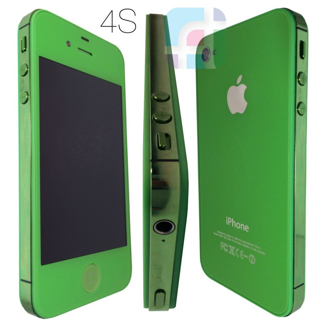 iPhone repair and modification - Fix My Touch - Lime green iPhone