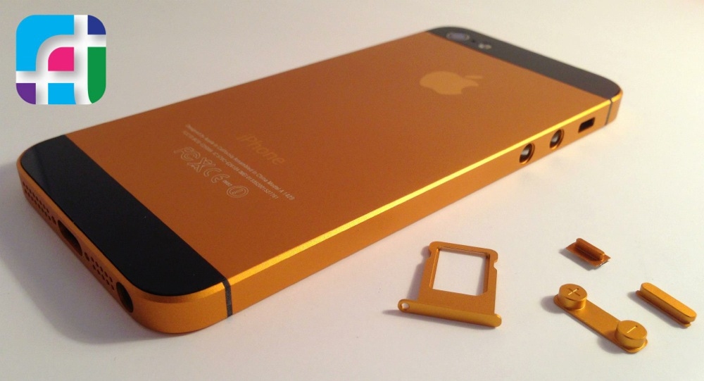 iPhone 5 repair and modification - Fix My Touch - Gold and black iPhone 5 casing and buttons
