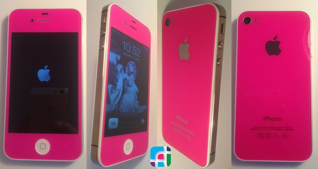 iPhone repair and modification - Fix My Touch - Hot pink iPhone