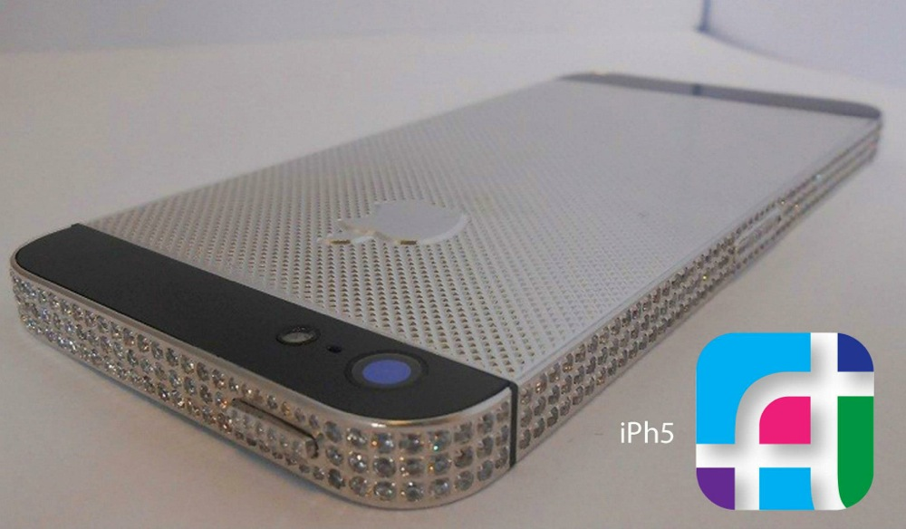iPhone 5 repair and modification - Fix My Touch - Silver studded iPhone 5