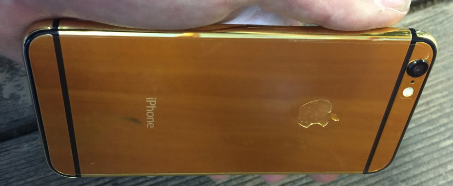 Kelowna Cell Repair - Fix My Touch Gold iPhone 6 rear housing beautiful shine