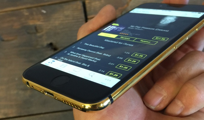 Gold and Black iPhone 6