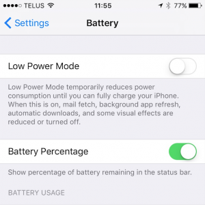 low power mode iphone fix my touch kelowna okanagan