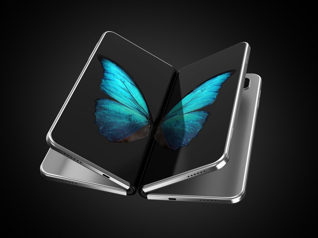two foldable phones concept design
